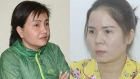 Hai đối tượng Võ Thị Kim Thủy và Bùi Thị Thắm