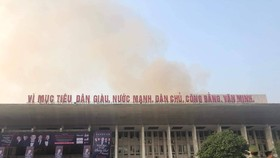 Cháy tại hội trường Cung văn hóa hữu nghị Việt Xô