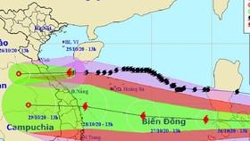 CSGT lập trung tâm chỉ huy ứng phó với cơn bão số 9