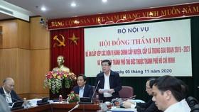 Hội đồng thẩm định thông qua đề án sắp xếp các đơn vị hành chính tại TPHCM