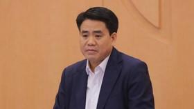 Ông Nguyễn Đức Chung trước khi bị bắt