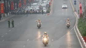 Bảo đảm trật tự an toàn giao thông, dẫn đoàn phục vụ Đại hội