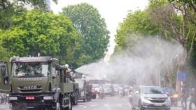 15 xe đặc chủng phun khử khuẩn tại 3 quận nội thành Hà Nội