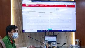 Bộ Công an giới thiệu hệ thống khai báo y tế để nhanh chóng truy vết F0