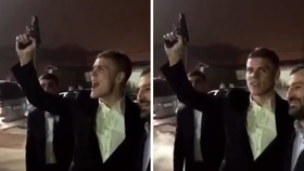 Hình ảnh Kokorin bắn súng cắt từ clip