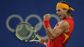 Nadal trong trang phục áo không tay ở đấu trường Olympic