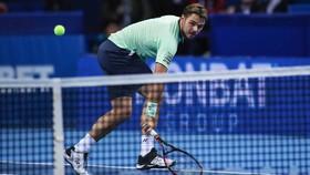 Stan Wawrinka trong trận thua Mirza Basic