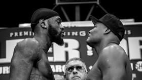 Wilder (trái) mặt đối mặt với Ortiz