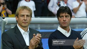 Klinsmann (trái) và Loew khi còn làm việc chung ở World Cup 2006