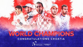 Hình ảnh mừng ngôi vô địch Davis Cup 2018 của tuyển Croatia