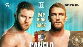 Hình ảnh quảng bá trận Canelo khiêu chiến Callum