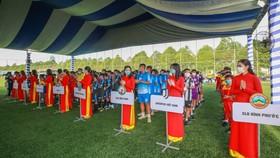 Các đội bóng nhí tham dự giải