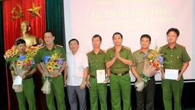 Lễ trao thưởng cho Ban chuyên án T919