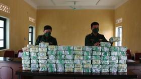 Lượng ma túy đá bị Đồn Biên phòng Cửa khẩu Thanh Thủy phát hiện, thu giữ