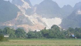 Một khu vực khai thác đá tại huyện Quỳ Hợp (Nghệ An)