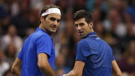 Novak Djokovic và Roger Federer