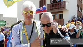 """Oleg Tinkov (phải) rất thân thiết với Dave Brailsford, nhưng để tài trợ cho Sky thì: """"Không!"""""""