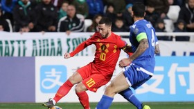 Eden Hazard trong trận Bỉ thắng đảo Síp 2-0