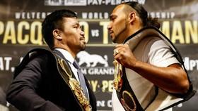 Thurman (phải) đối mặt Pacquiao