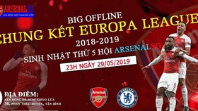 Hình ảnh quảng bá buổi Big Offline của ArsenalSG