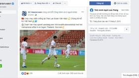 Lời chúc dành cho Văn Hậu và tuyển Việt Nam của SC Heerenveen