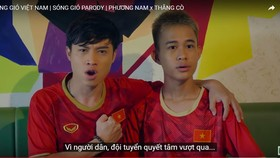 Diễn viên Trần Phương Nam (trái) và Hot Youtuber Thằng Cò