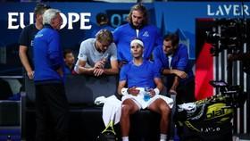 Nadal dính chấn thương khi tham dự Laver Cup