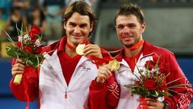 Federer và Wawrinka giành HCV đôi nam ở Olympic 2008