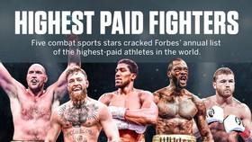 Trong danh sách các võ sĩ kiếm được nhiều tiền nhất thời gian vừa qua, Fury xếp thứ 1 còn AJ xếp thứ 3