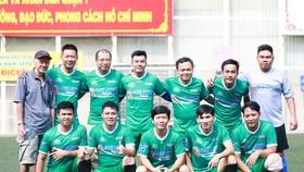 Đội bóng nam Báo Sài Gòn Giải Phóng tham dự Giải bóng đá Hội Nhà báo TPHCM 2020 (Ảnh Hoàng Vân)