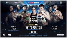 Áp phích quảng bá trận Dillian Whyte vs Alexander Poverkin vào ngày 22-8
