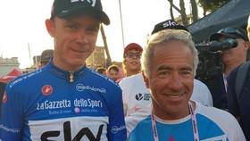 Chris Froome và ông trùm Sylvan Adams ở Israel kỳ giải Giro d'Italia 2018