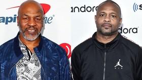 Mike Tyson và Roy Jones (phải) sẽ đấu với nhau vào ngày 12-9 tới đây
