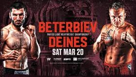 Hình ảnh quảng bá trận Beterbiev vs Deines