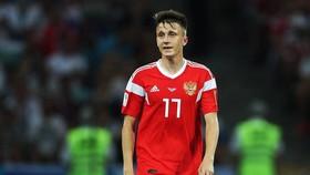 Golovin trong màu áo tuyển Nga