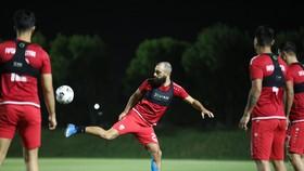 Buổi tập gần nhất của tuyển Afganistan hôm 9-6, hiện chưa rõ số phận của đội tuyển này là như thế nào