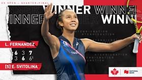 Sau Andreescu, Fernandez mang tự hào cho quần vợt Canada ở Grand Slam trên đất Mỹ