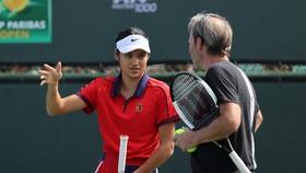 Raducanu tập luyện tại Indian Wells
