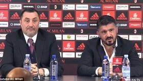 HLV Gennaro Gattuso và Giám đốc thể thao Massimiliano Mirabelli . Ảnh: Getty Images.