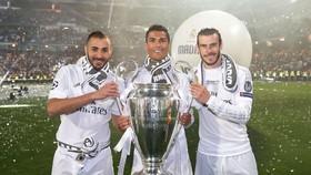 Bộ ba Benzema, Bale và Ronaldo sẽ ra đi trong mùa hè. Getty Images.