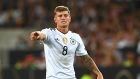 Toni Kroos trong màu áo tuyển Đức.