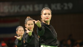 Đội biểu diễn nữ Việt Nam đã có HCV tại SEA Games 29 sau 4 tháng. Ảnh: DŨNG PHƯƠNG