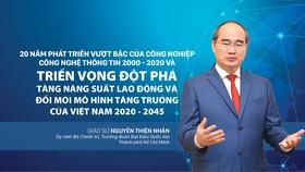 20 năm phát triển vượt bậc của công nghiệp công nghệ thông tin 2000 -2020 và triển vọng đột phá tăng năng suất lao động và đổi mới mô hình tăng trưởng của Việt Nam 2020 -2045