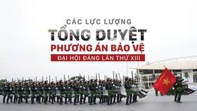 Các lực lượng tổng duyệt phương án bảo vệ Đại hội Đảng lần thứ XIII