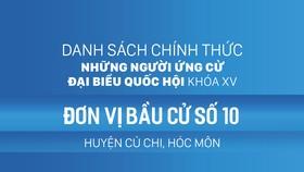 Đơn vị bầu cử số 10 (huyện Củ Chi, huyện Hóc Môn)