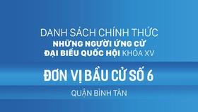 Đơn vị bầu cử số 6 (quận Bình Tân)