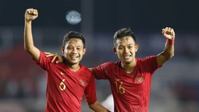 Cầu thủI ndonesia vui mừng vào chung kết SEA Games 30. Ảnh: Khang Duy