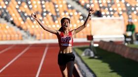 Thu Trang và khoảnh khắc mừng chiến thắng tại SEA Games 30.