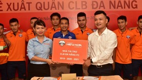 Nhà xe Hiếu Hoa, một trong những nhà tài tài trợ đồng hành cùng đội futsal Đà Nẵng. Ảnh: Cao Tường