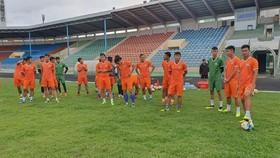 Các cầu thủ Bình Định sẵn sàng cho mùa giải mới